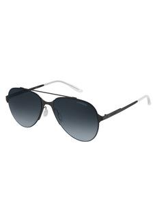 Carrera Men's Ca113s 0003 Aviator Sunglasses MATTE BLACK/GRAY GRADIENT 57 mm