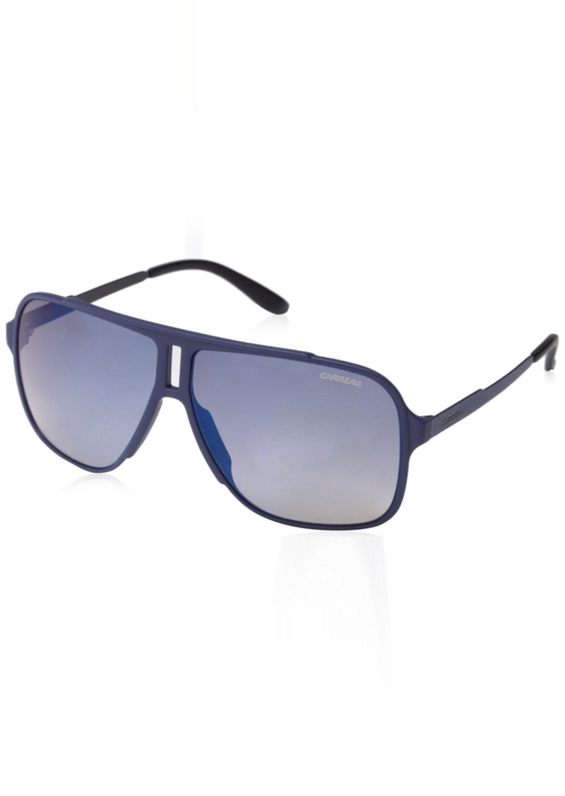Carrera Men's Ca122s Rectangular Sunglasses Flash Blue Sky 61 mm