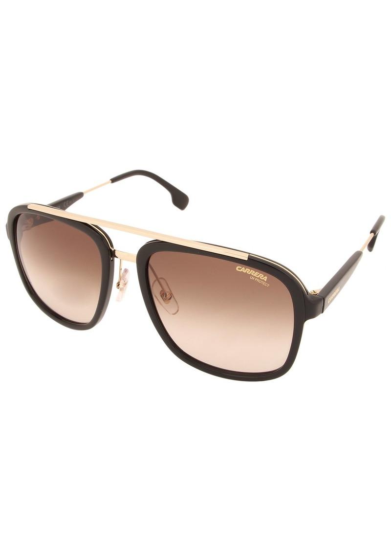 Carrera Men's Ca133s Aviator Sunglasses Black Gold/Brown Gradient 57 mm