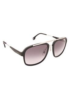 Carrera Men's Ca133s Aviator Sunglasses MATTE BLACK RUTHENIUM/DARK GRAY GRADIENT