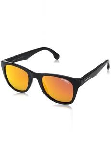 Carrera Men's Ca5038s Wayfarer Sunglasses Black METALIZED/RED Mirror  mm