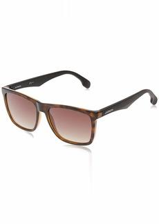 Carrera Men's CA5041/S Rectangular Sunglasses HAVANA MATTE BLACK/BROWN GRADIENT