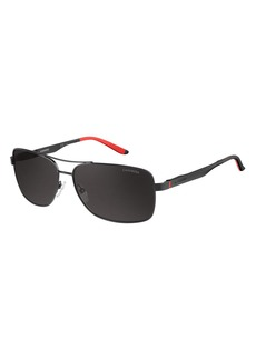 Carrera Men's CA8014S Polarized Rectangular Sunglasses  61 mm