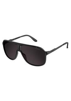 Carrera Men's New Safaris Aviator Sunglasses Matte BlackShinny Black & Brown Gray 62 mm