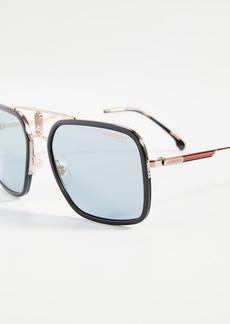 Carrera Metal/Acetate Square Aviator Sunglasses