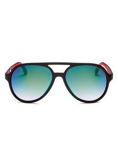 Carrera Unisex Brow Bar Aviator Sunglasses, 58mm