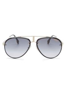Carrera Unisex Glory Brow Bar Aviator Sunglasses, 58mm