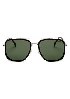 Carrera Unisex Polarized Brow Bar Aviator Sunglasses, 57mm