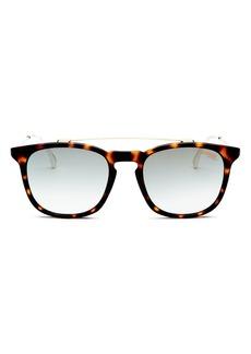 Carrera Women's Boss Mirrored Brow Bar Square Sunglasses, 51mm
