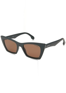 Carrera Women's CA5044/S Cat-Eye Sunglasses MTGRN MIL