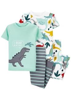 Carter's Baby Boys 4-Piece Dinosaur Snug Fit Cotton Pajama