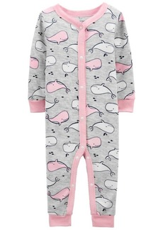Carter's Baby Girls Whale Footless Pajamas