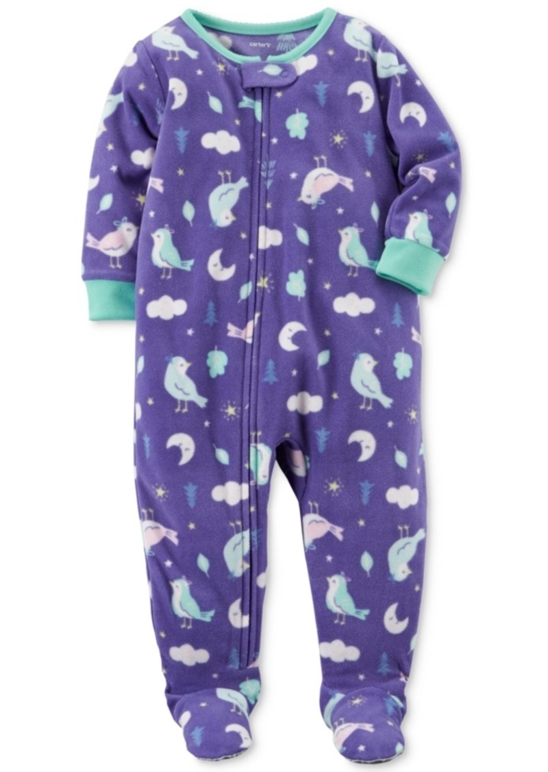 4a51511696e5 Carter s Carter s 1-Pc. Bird-Print Footed Fleece Pajamas