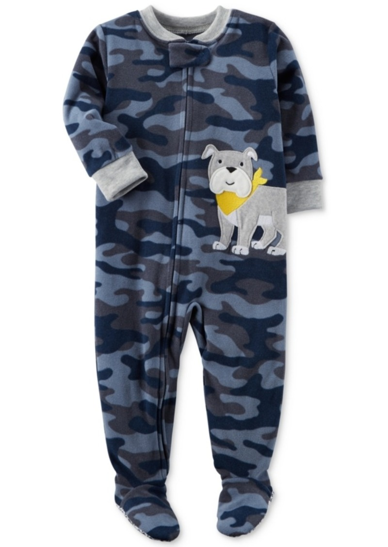 c80af67bf SALE! Carter s Carter s 1-Pc. Camo-Print Dog Footed Pajamas