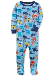 Carter's 1-Pc. Construction-Print Footed Cotton Pajamas, Baby Boys