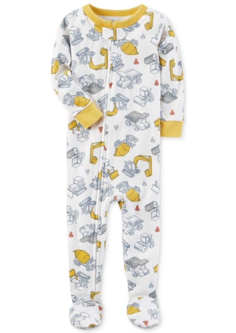 befbb7f91 Carter s Carter s 1-Pc. Construction-Print Footed Pajamas