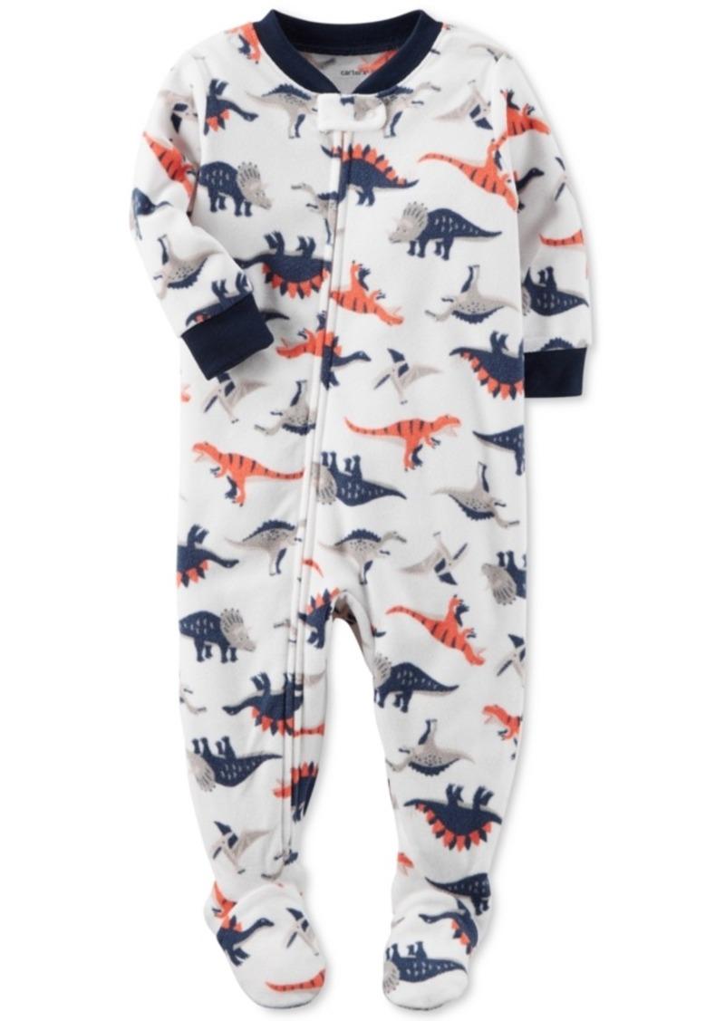 3d6cef21b Carter s Carter s 1-Pc. Dinosaur-Print Footed Fleece Pajamas