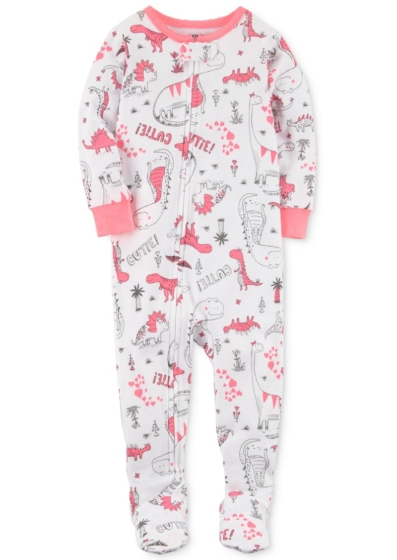 d34c25754129 On Sale today! Carter s Carter s 1-Pc. Dinosaur-Print Footed Pajamas ...