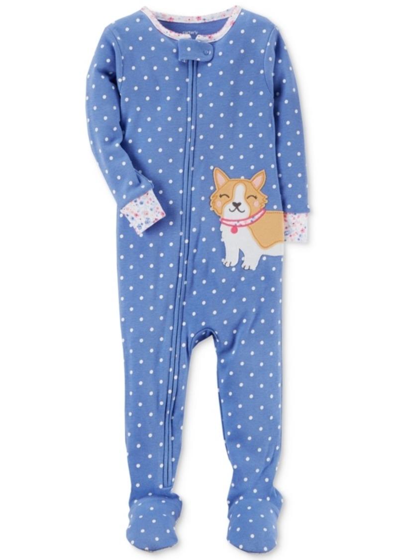 7ed622fbb Carter s Carter s 1-Pc. Dog-Print Dog Footed Cotton Pajamas