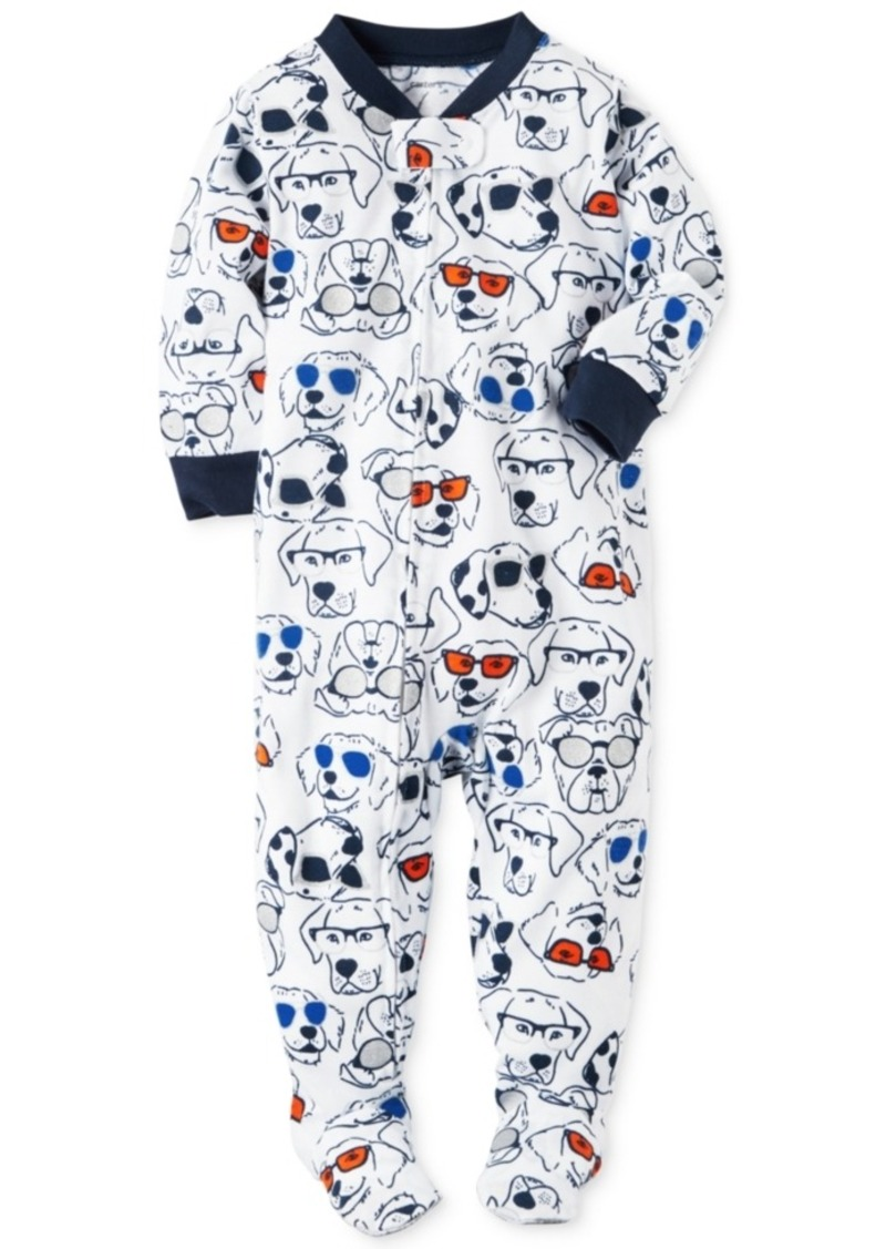 carter s carter s pc dog print footed pajamas baby boys  carter s 1 pc dog print footed pajamas baby boys 0