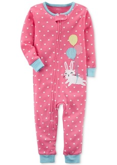 Carter's 1-Pc. Dot-Print Bunny Cotton Pajamas, Toddler Girls