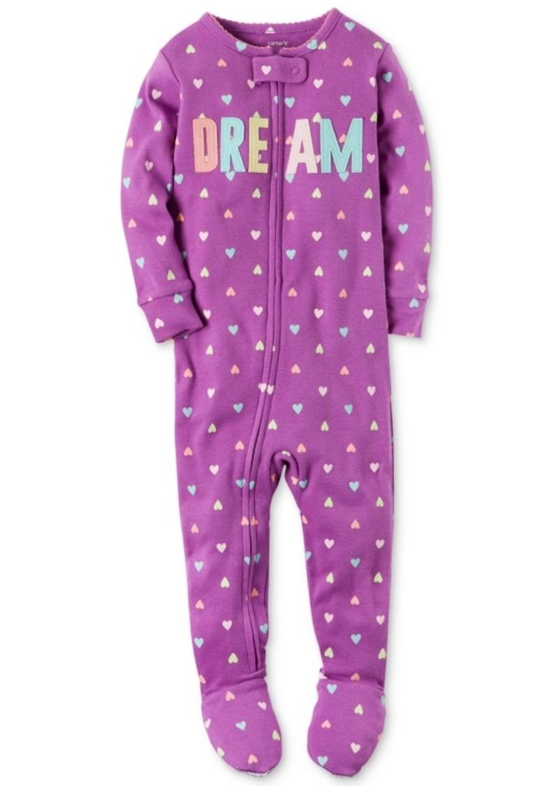 7eb020e49 Carter s Carter s 1-Pc. Heart-Print Dream Footed Pajamas