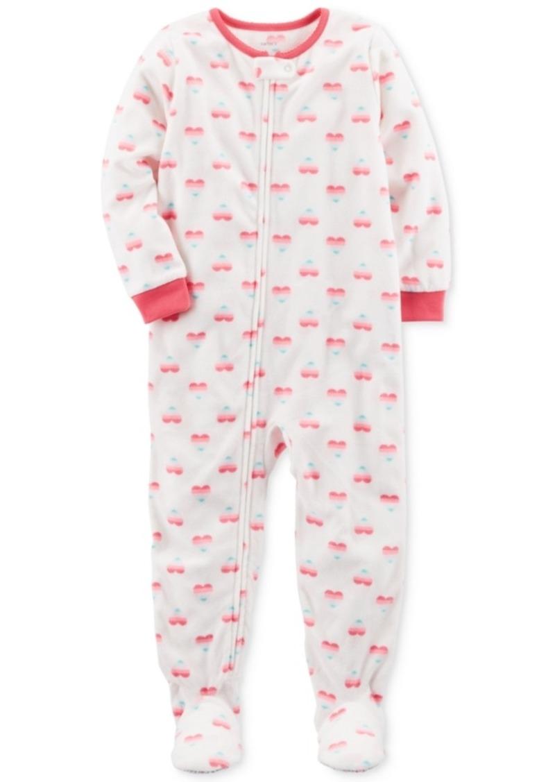 fa87e0435 Carter s Carter s 1-Pc. Heart-Print Footed Pajamas