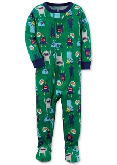 Carter's 1-Pc. Monster-Print Footed Pajamas, Baby Boys