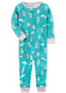 Carter's 1-Pc. Princess-Print Cotton Pajamas, Toddler Girls