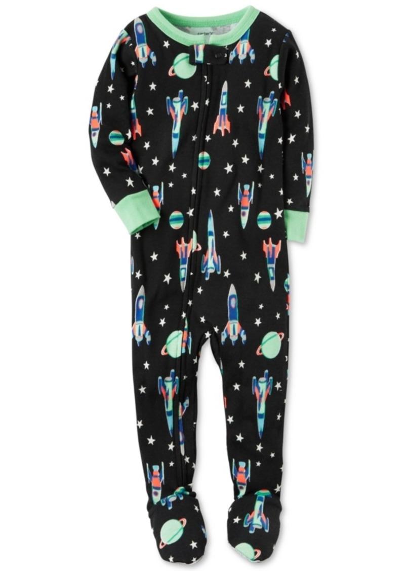 0d21ed45d SALE! Carter s Carter s 1-Pc. Rocket-Print Footed Pajamas