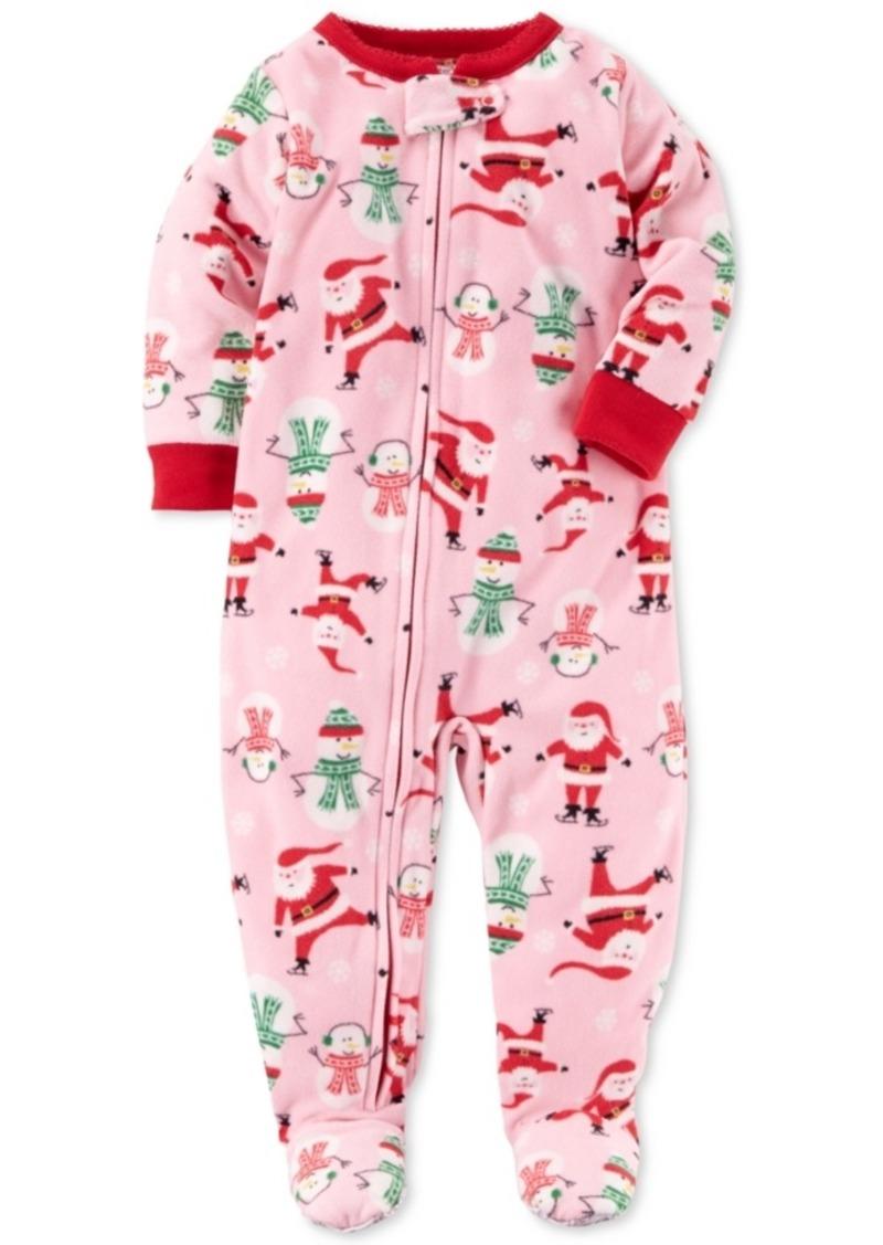 ae07486a7 Carter s Carter s 1-Pc. Santa-Print Footed Fleece Pajamas