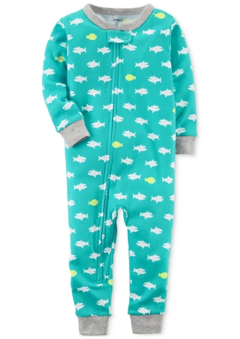 04a1a5c1579d 1-Pc. Shark-Print Cotton Pajamas