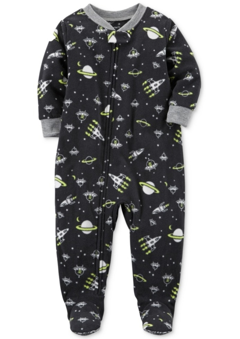 bb154c63f0 On Sale today! Carter s Carter s 1-Pc. Space-Print Glow-In-The-Dark ...