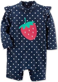 Carter's 1-Pc. Strawberry Rash Guard Swimsuit, Baby Girls