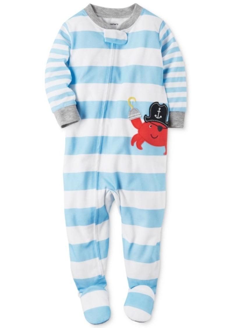 24076caa52dc Carter s Carter s 1-Pc. Striped Crab Footed Pajamas