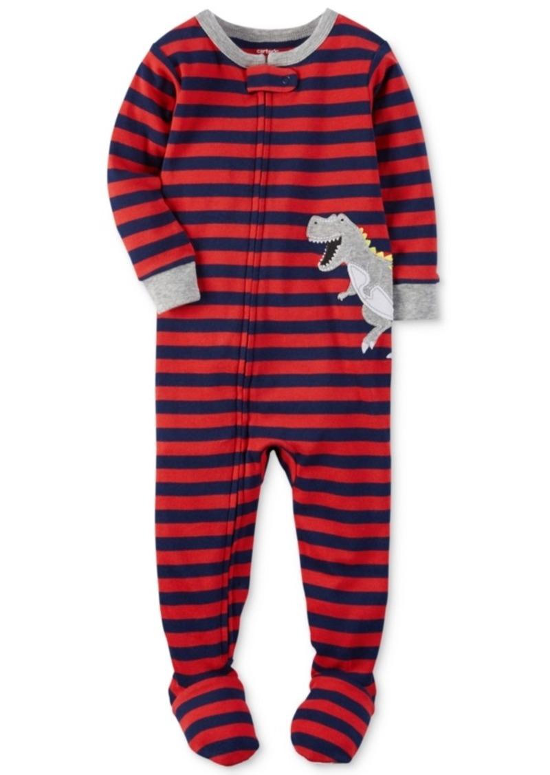 72290c96bd1f Carter s Carter s 1-Pc. Striped Dinosaur Footed Pajamas