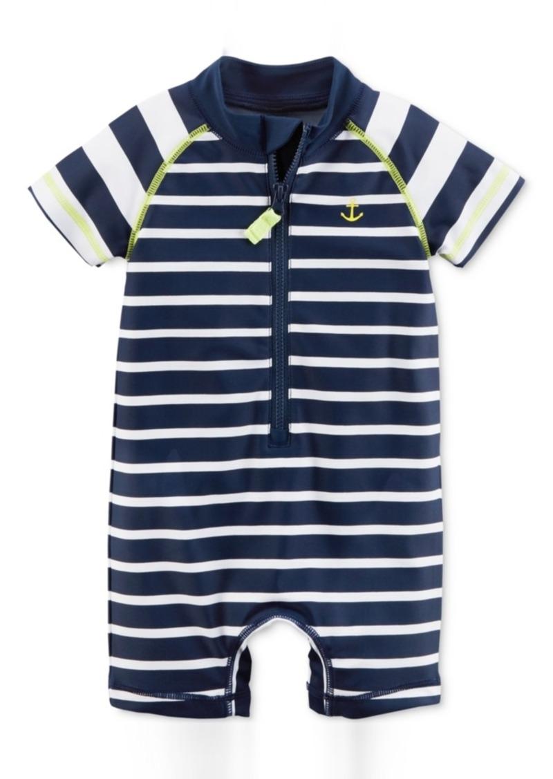 586bc4e581 Carter's Carter's 1-Pc. Striped Rash Guard Swimsuit, Baby Boys Now ...