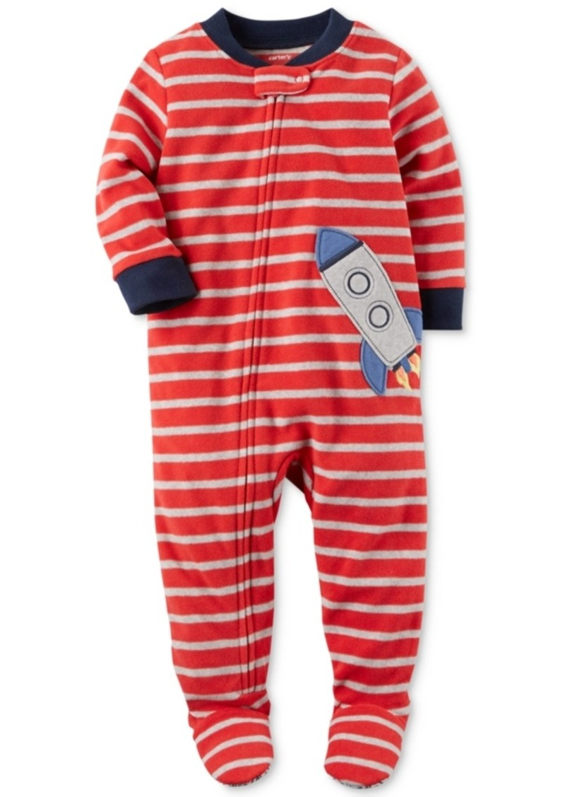 43ecb940ed9f 1-Pc. Striped Rocket Footed Pajamas
