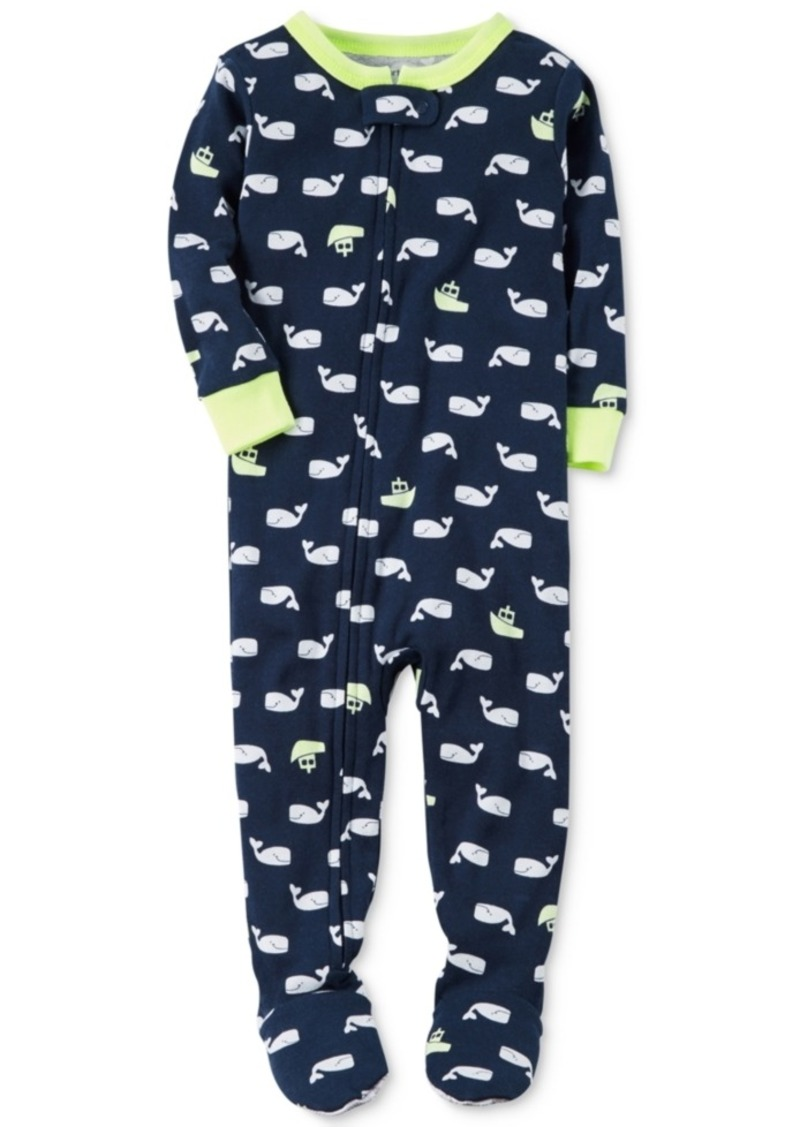 8319b92644 Carter s Carter s 1-Pc. Whale-Print Footed Pajamas