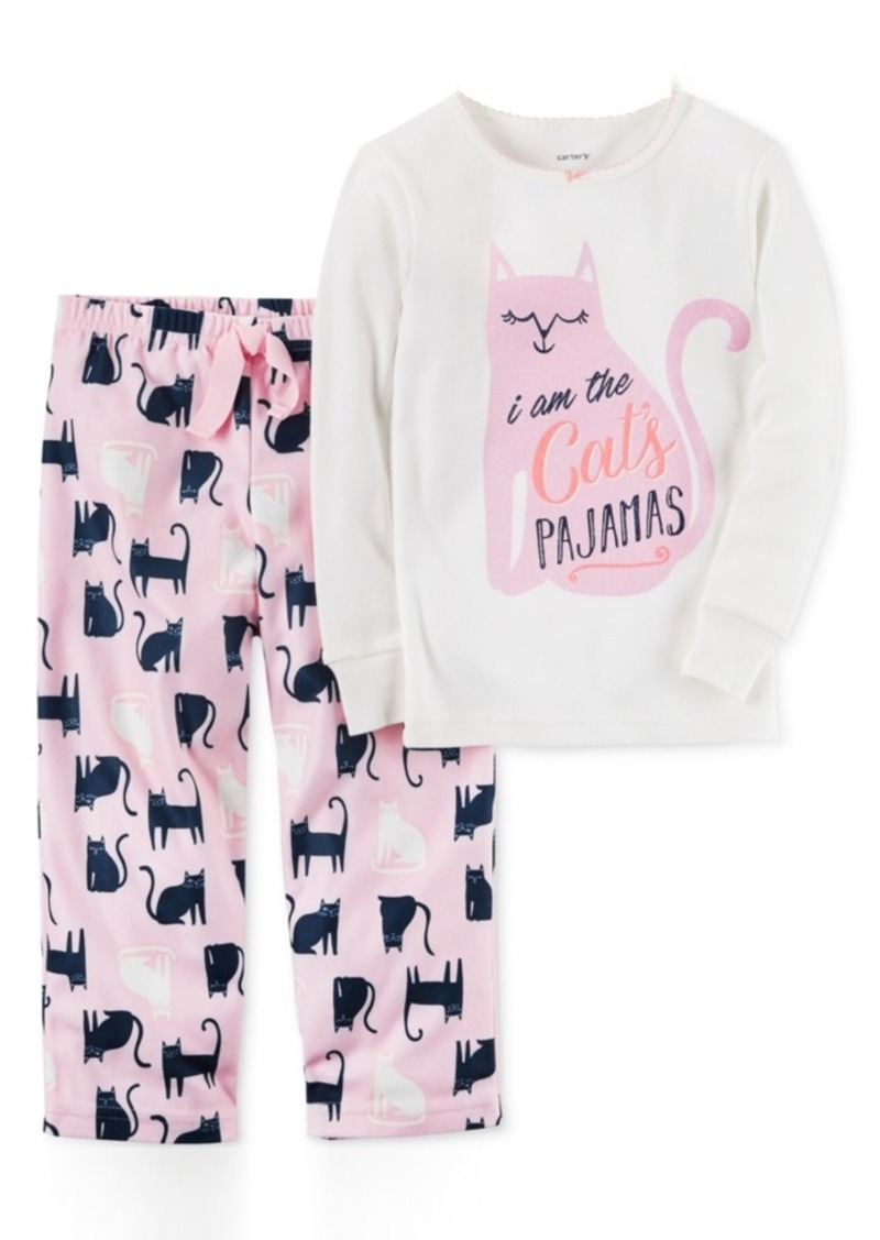 4f7e442f2 Carter's Carter's 2-Pc. Cat's Pajamas Pajama Set, Toddler Girls (2T ...