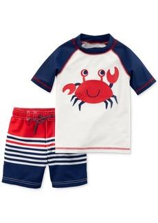 Carter's 2-Pc. Crab Rash Guard & Swim Trunks Set, Toddler Boys