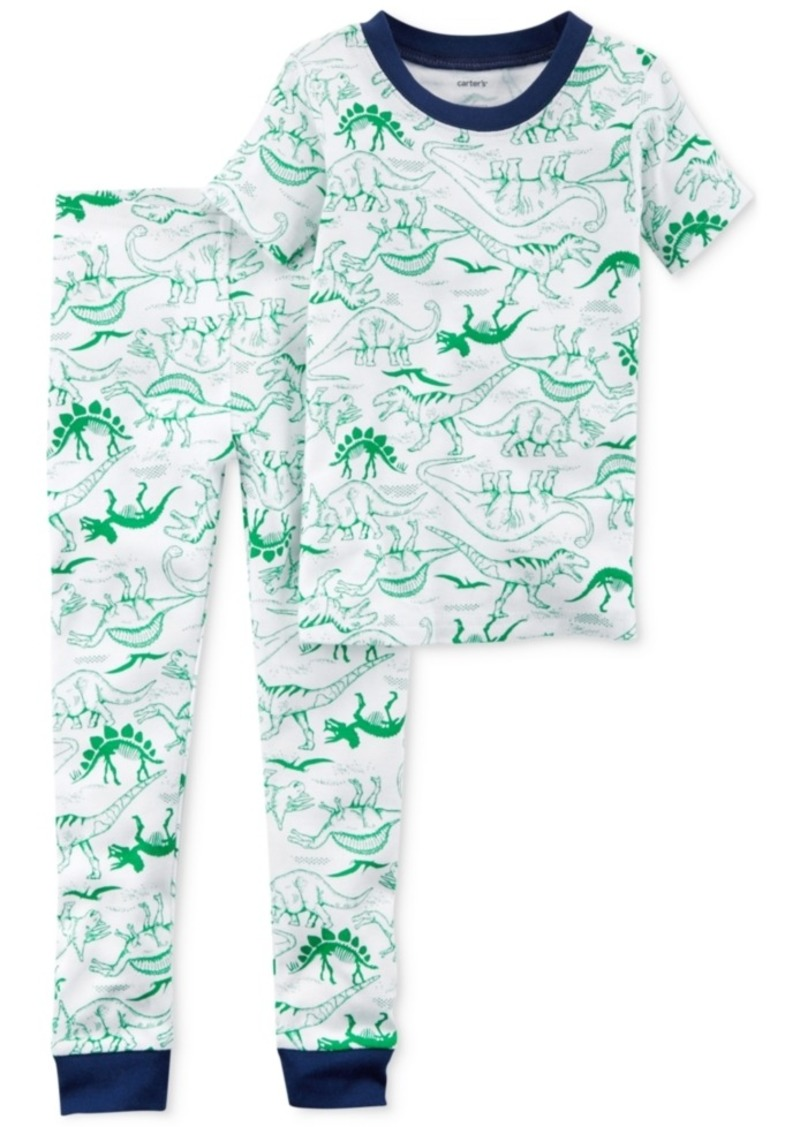 5090f5e05 Carter's Carter's 2-Pc. Dinosaur-Print Cotton Pajamas, Toddler Boys ...