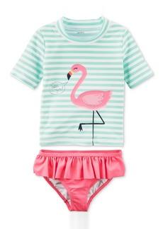 Carter's 2-Pc. Flamingo Rash Guard Swim Set, Little Girls