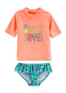 Carter's 2-Pc. Hello Summer Rash Guard Swimsuit, Little Girls & Big Girls