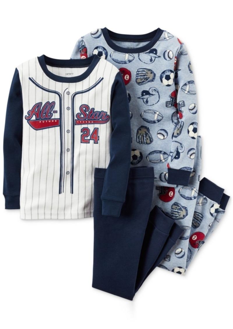 Carter's 4-Pc. All-Star Pajama Set, Little Boys (2-7) & Big Boys (8-20)