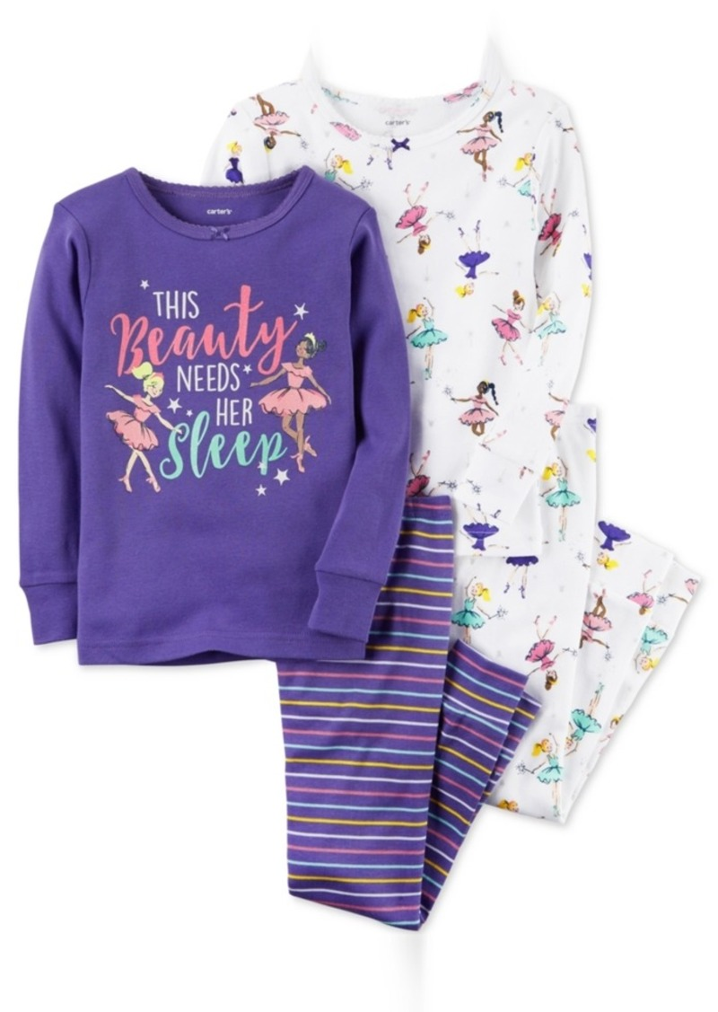 6389099de Carter s Carter s 4-Pc. Beauty Needs Her Sleep Cotton Pajama Set ...