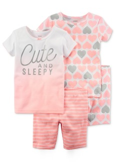 Carter's 4-Pc. Cute & Sleepy Cotton Pajama Set, Little Girls & Big Girls