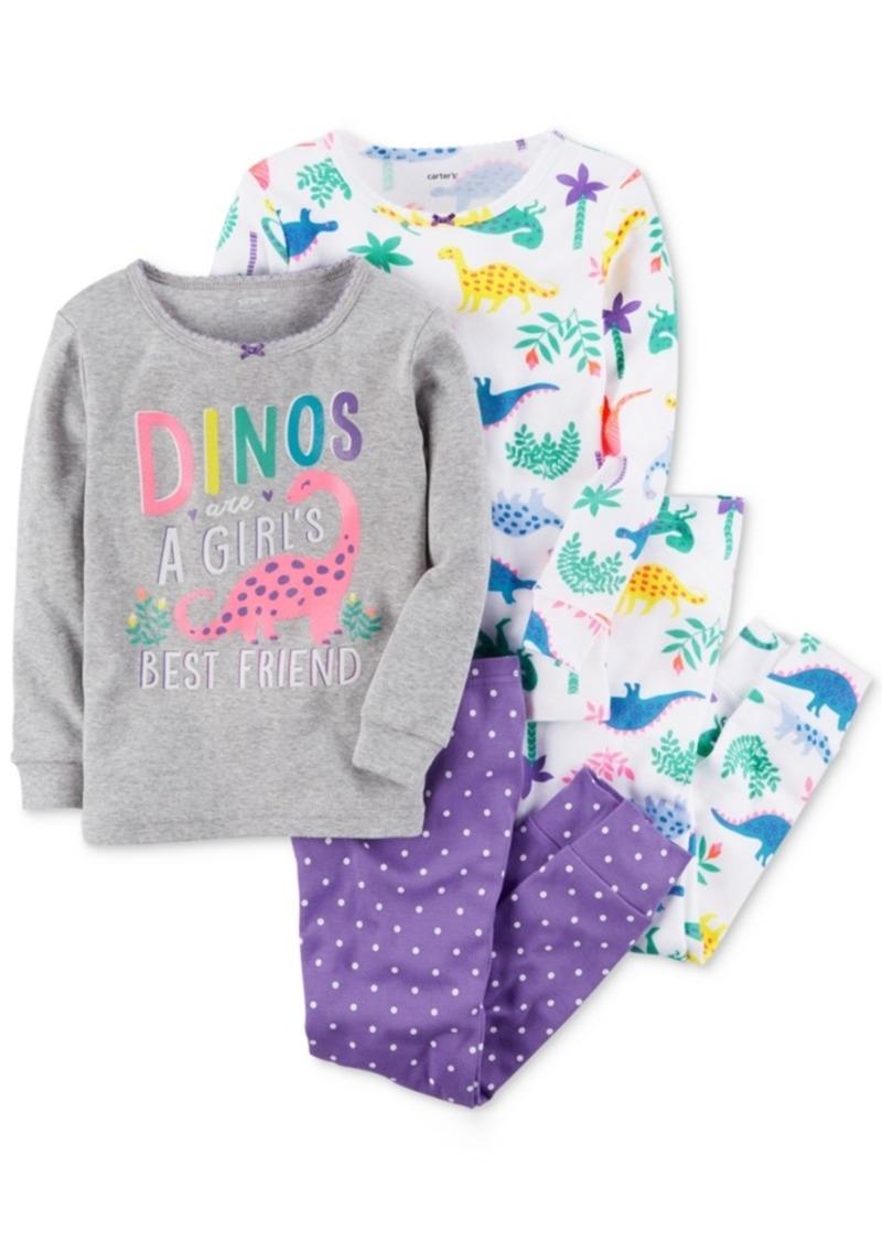 3051f4ecf93b Carter s Carter s 4-Pc. Dino-Print Cotton Pajamas