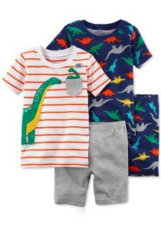 Carter's 4-Pc. Dino-Print Pajamas Set, Baby Boys