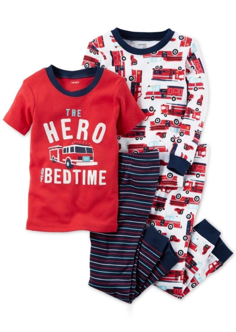 9a18608fe03a SALE! Carter s Carter s 4-Pc. Firetruck Hero Cotton Pajama Set ...